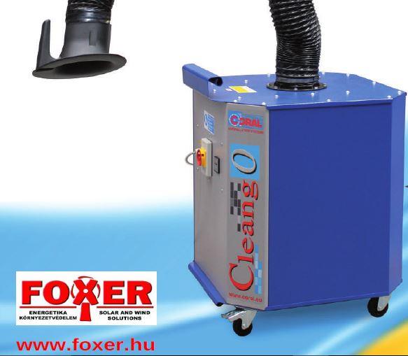 füst ipari elszívó hegesztési foxer légtisztító berendezés mobilgép elszívókar