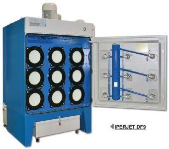 patronos szűrőtorony foxer ipari elszívó légtisztító berendezés