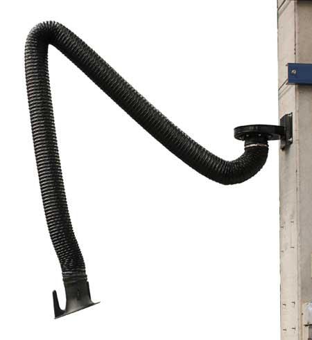 dynaflex flexibilis elszívókar cleango gépre falra coral füst